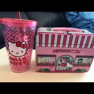Hello Kitty sipper and lunch box